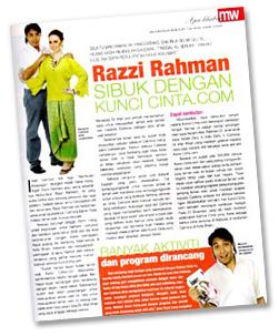 Razzi Rahman di Majalah Wanita